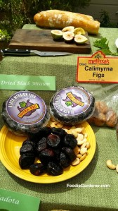 dried black mission figs calimyrna figs almonds on plate foodie gardener shirley bovshow