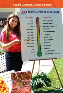 Shirley bovshow foodie gardener edible garden expert scoville pepper heat chart