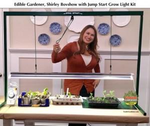 foodiegardener edible designer shirley bovshow hydrofarm jumpstart grow light kit home and family show hallmark channel foodiegardener blog