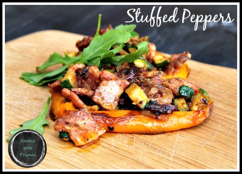 Stuffed Peppers {LCHF & Paleo}
