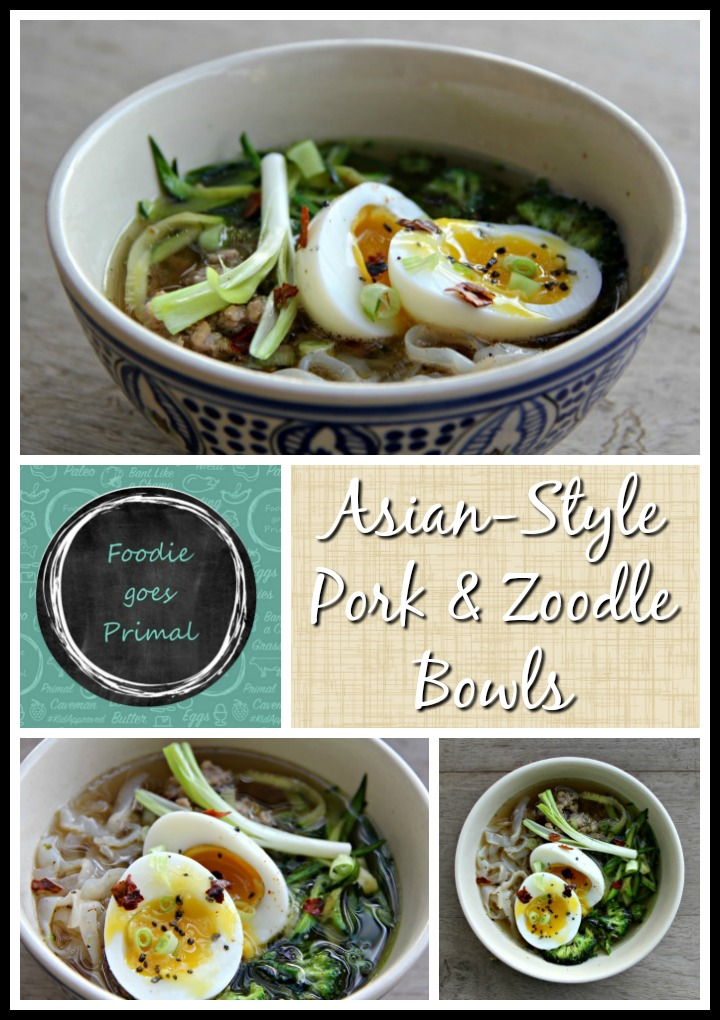 Asian Pork & Zoodle Bowls