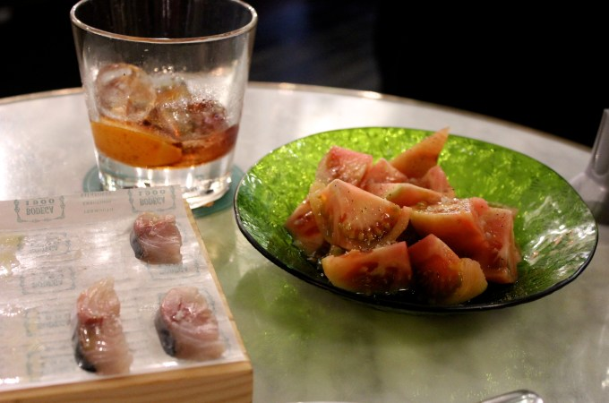 Tomato Salad, Vermouth, Mackerel at Bodega1900