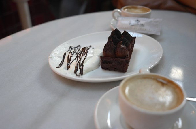 The chocolate cake at El Nacional