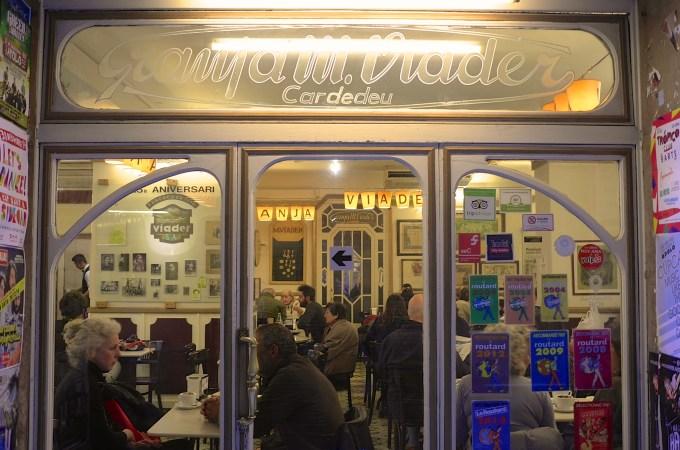 Shopfront of Cafe Granja Viader