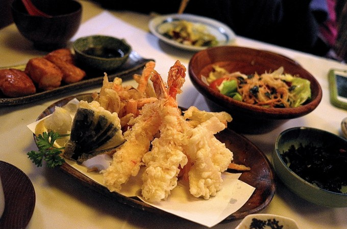 The shrimp tempura at Tempura Ya