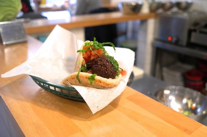 Falafel sandwich at A Tu Bola