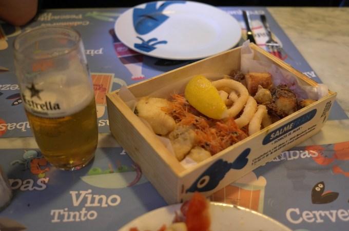 A box of fish Casa de Tapas