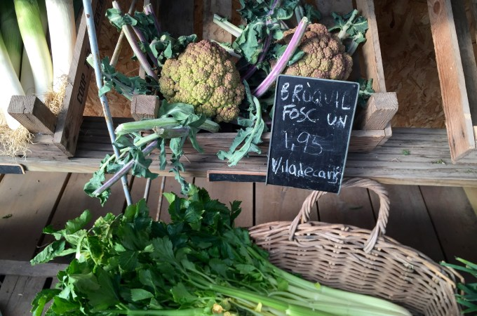 Vegetables at Bordas