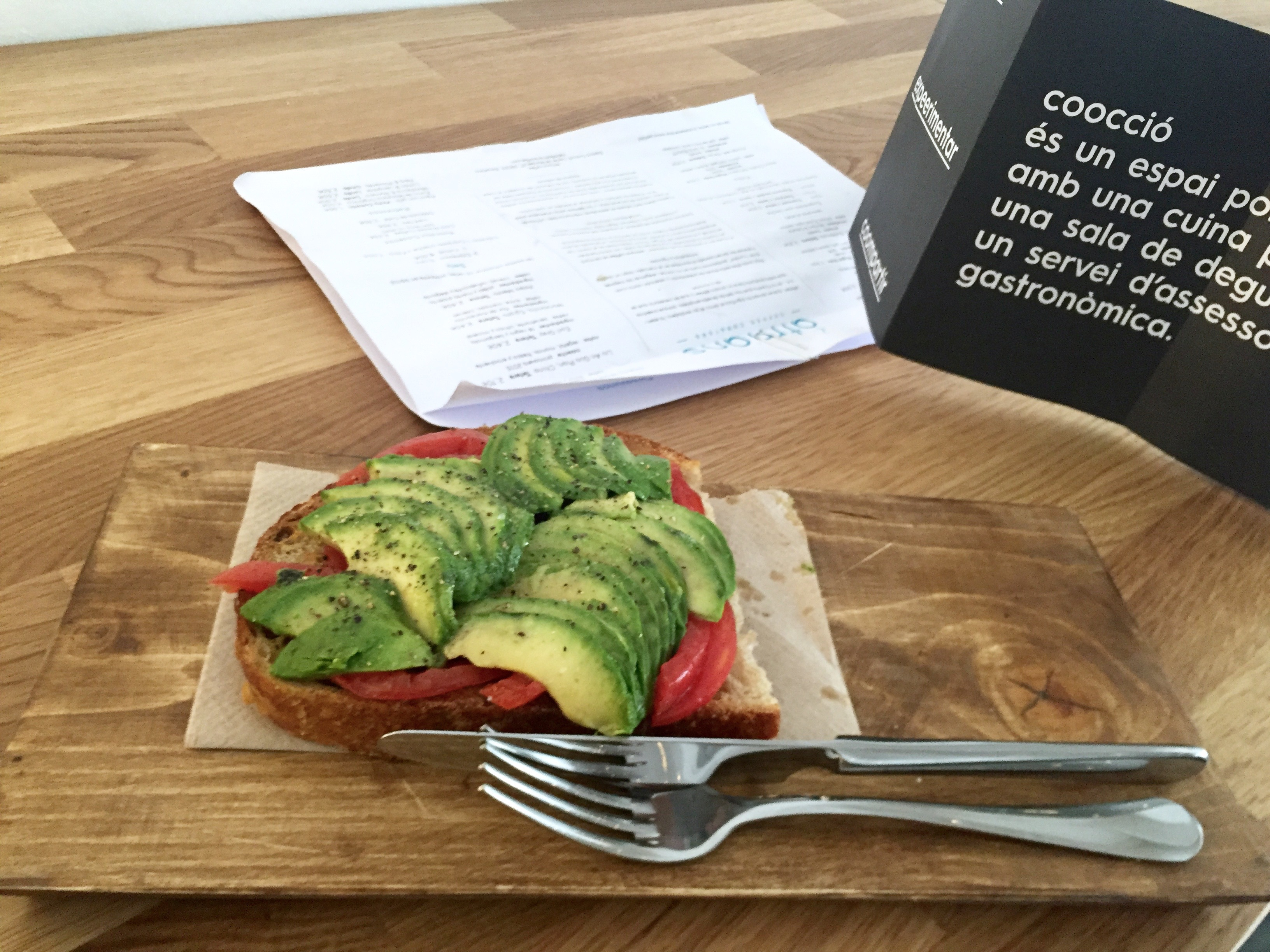 Avocado toast at Atmans