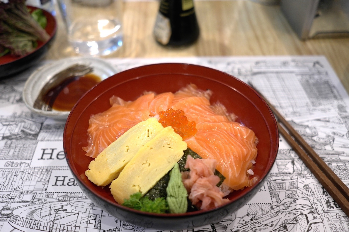 Salmon don buri at Yatai Barcelona