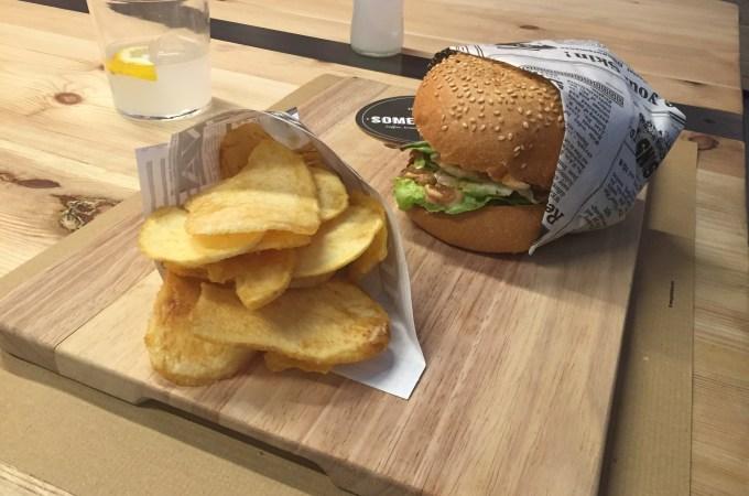 Somewhere cafe Barcelona burger