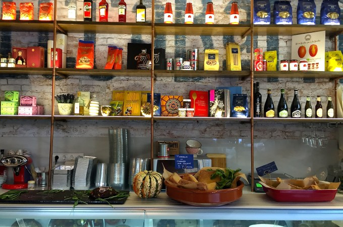 Above the counter at Lecca Baffi