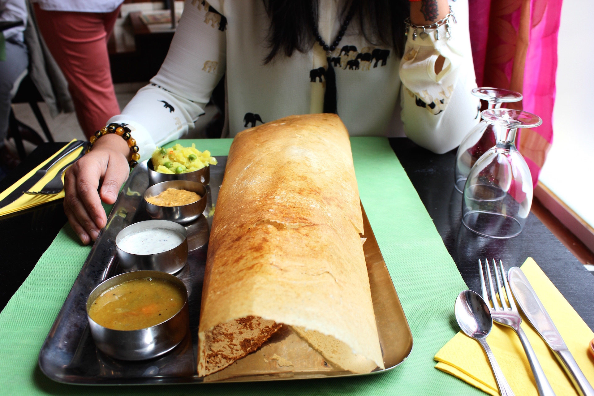 Look at the size of this dosa - it's huge