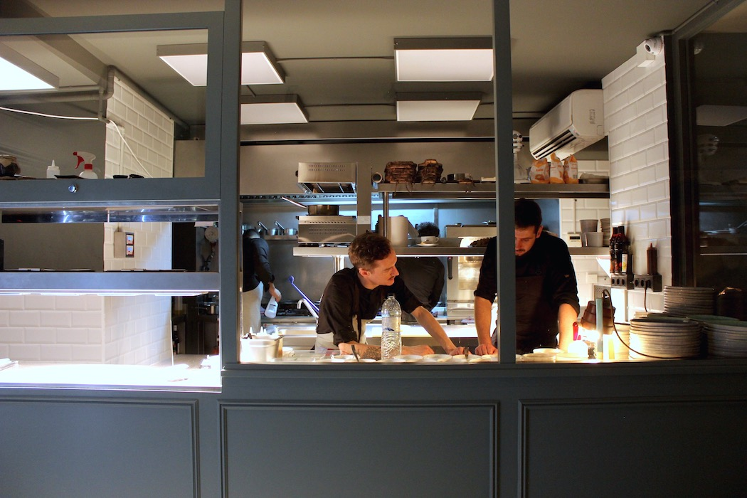 The kitchen at Ginette Barcelona
