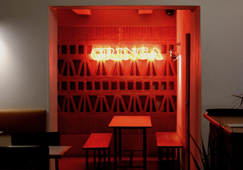 Gringa neon lighting at Californian style Mexican in El Raval