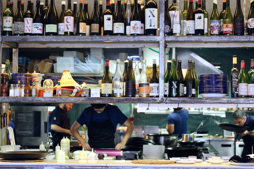 The kitchen at La Zorra de Sitges