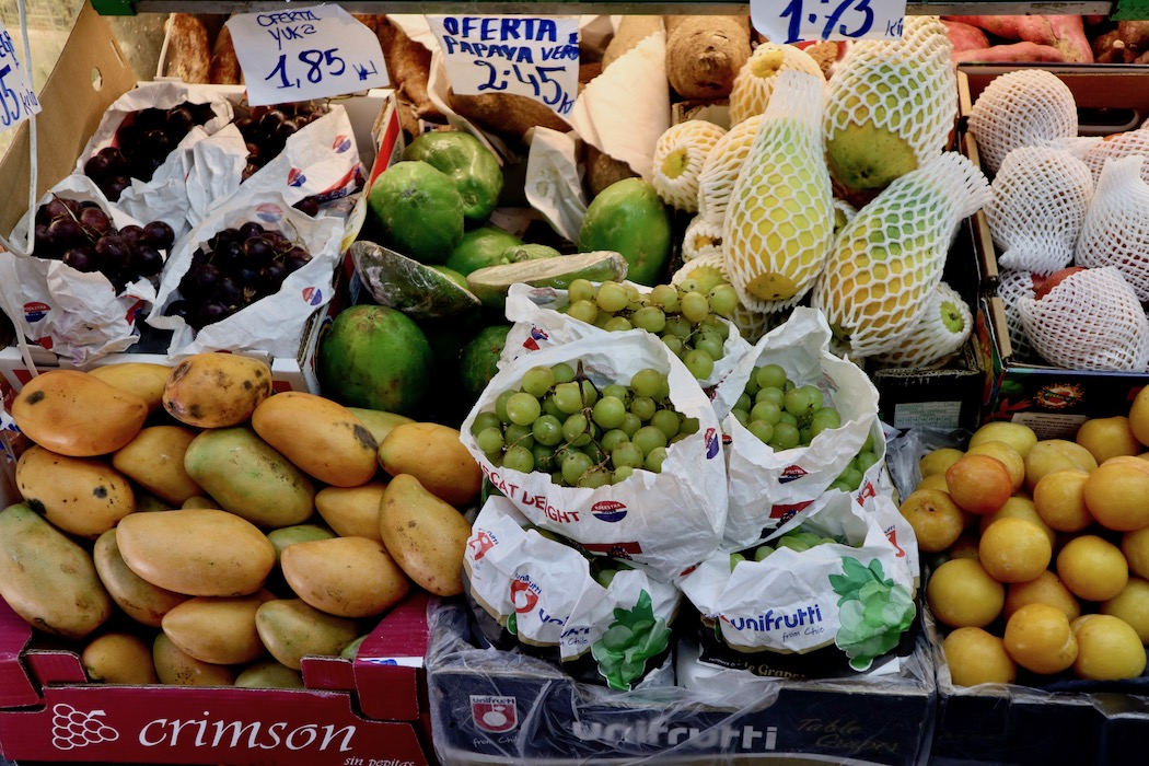 Exotic fruits at Proxim Filipino Market Barcelona