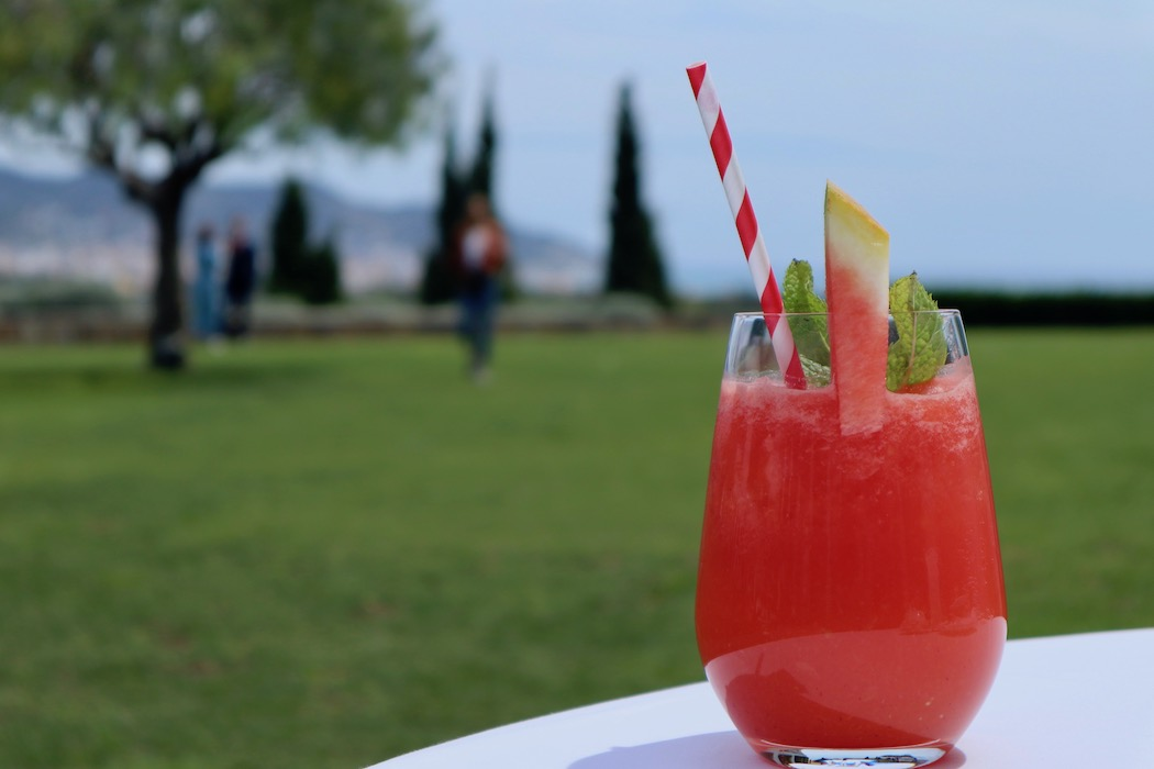 Watermelon cocktail at Dolce Hotel Sitges