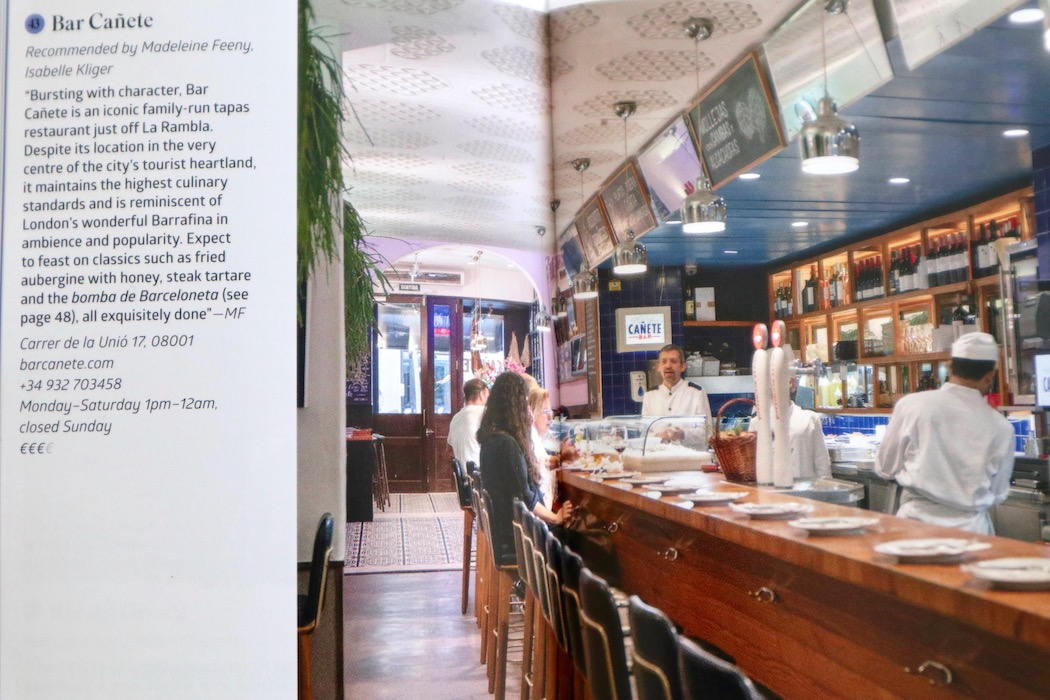 Bar Cañete in the book