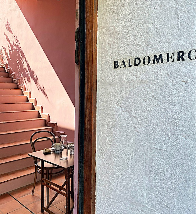 The entrance at Baldomero