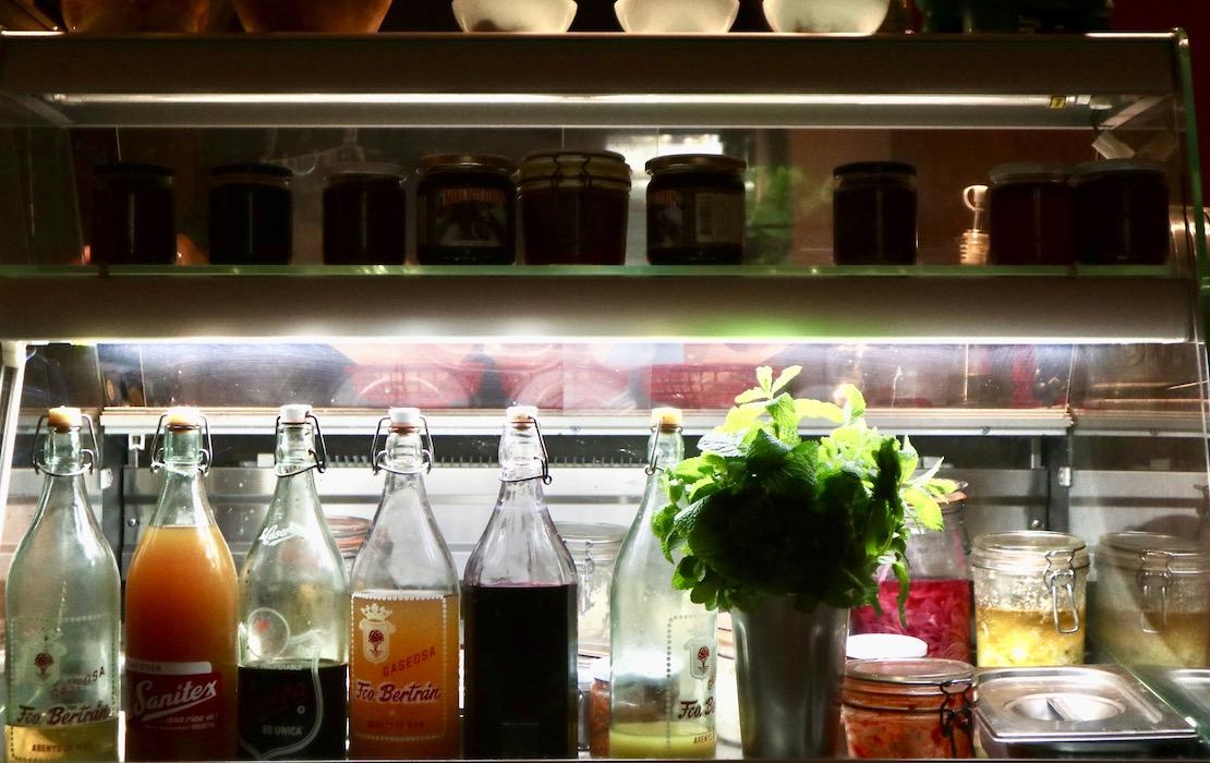 Homemade drinks at Zizinia de les Flores