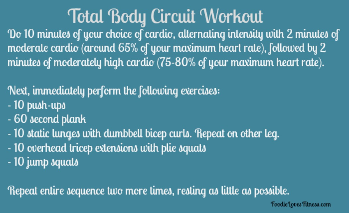 Today's WOD: A Total Body Circuit Routine • Foodie Loves