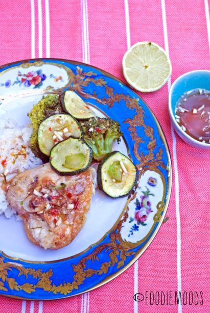 thaise kip rijst en groenten annebel langbein miss foodie recept