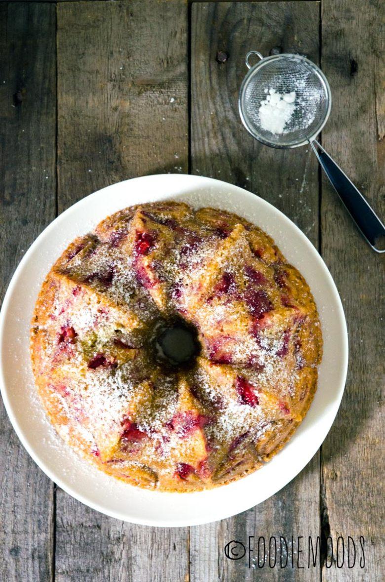 recept aardbeiencake met yoghurt foodiemoods