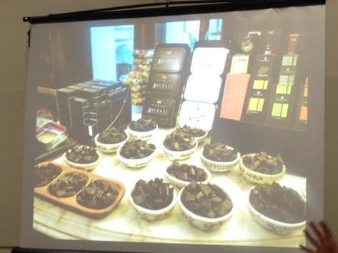 Amedei chocolate display