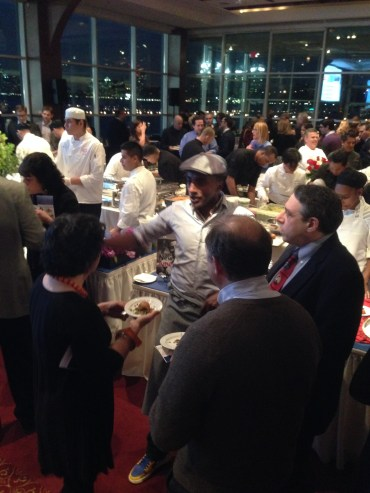 Chef Marcus Samuelsson talking with attendees