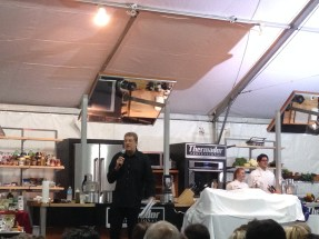 SoWe Co-Founder Rich Baumer welcoming the crowd for the Chef Battle