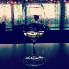 Enjoying a glass at Brengman Brothers.