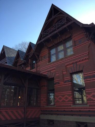 Outside Mark Twain's home