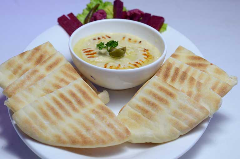 Pita Bread served