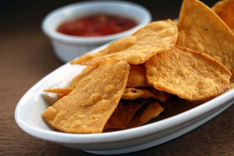 Served Tortilla Chips