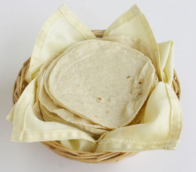 Storing tortillas in a bucket