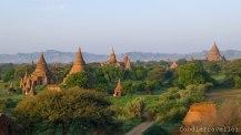 View of Bagan Plain from Shwe San Daw Pagoda