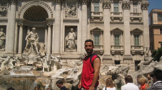 Peter-John at the Trevi Fountain
