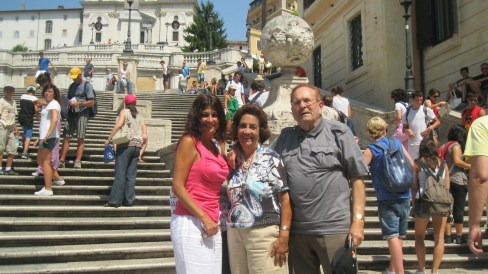 The Spanish Steps with Mom & Dad