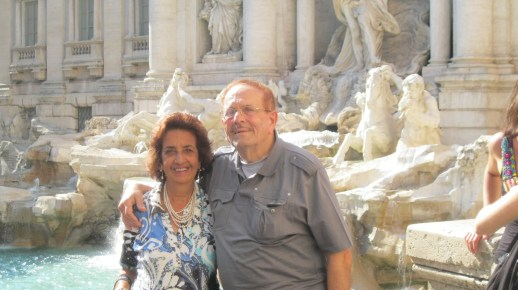 Mom & Dad at the Trevi Fountain