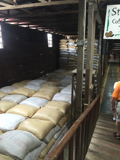 Dried coffee is stored for 3 months