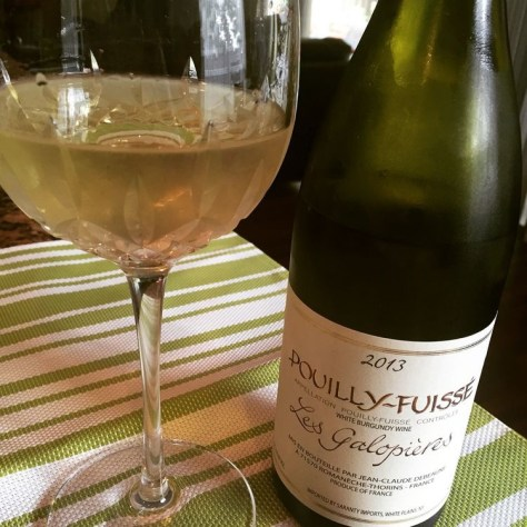 Pouilly-Fuisse' Chardonnay from the Burgundy region of France