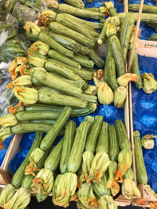 Zucchini in Naples, Italy
