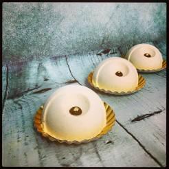 Elégua: Bavaroise vanille, insert crémeux caramel, croustillant spéculloos