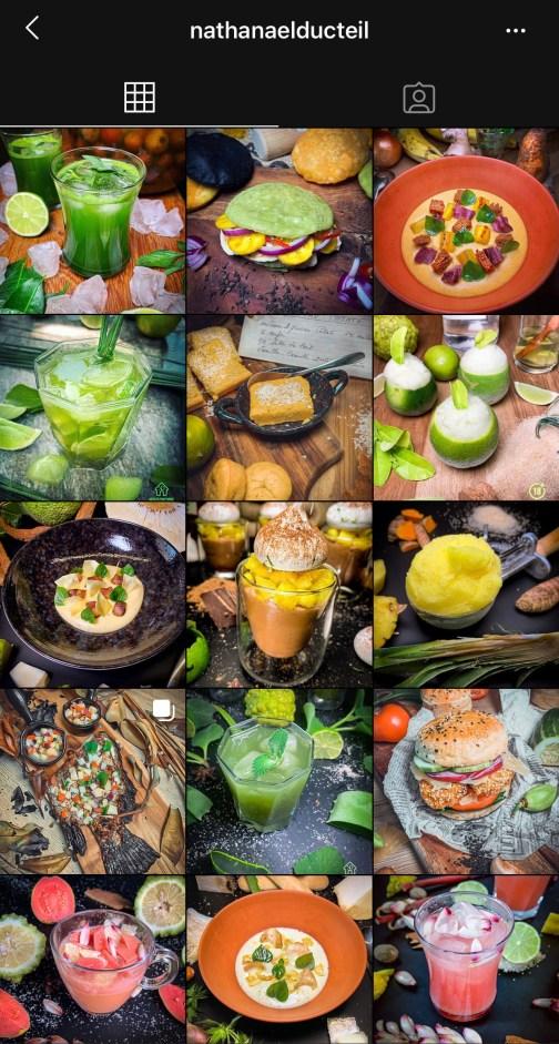Nathanael Ducteil instagram cuisine créole foodiles