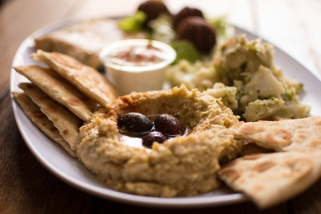 Falafel Greek Food Authentic Greek Hummus Mezes