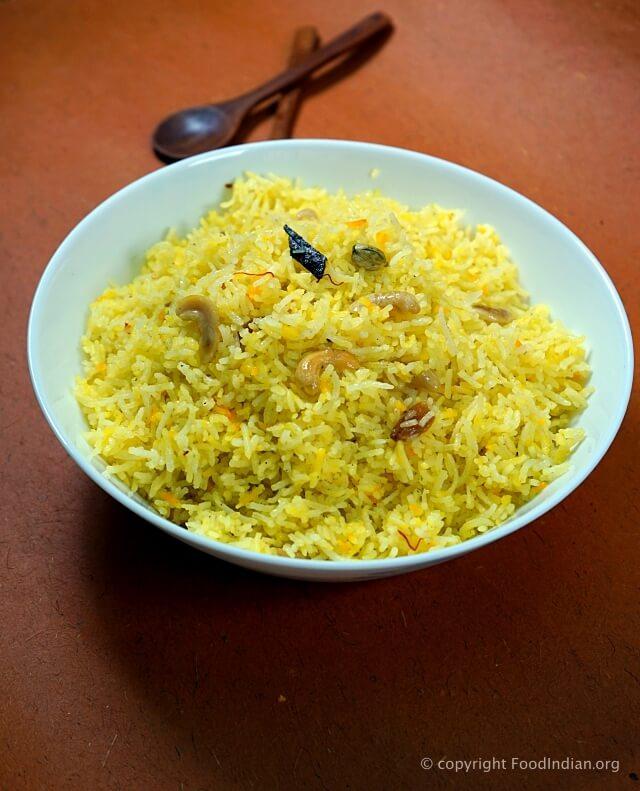 sweet saffron rice 1