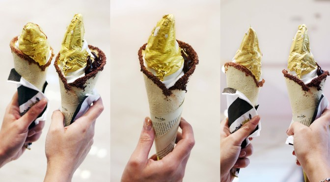 SOUR SALLY WHITE GOLD – The World's First Most Expensive Gold Yogurt Gelato