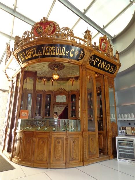 Vintage Kiosk at Lopez de Heredia