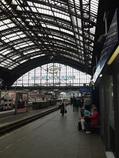 Arriving at Cologne's Hauptbahnhof